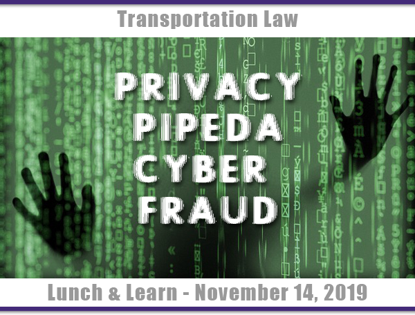 Transportation Law - Seminar Lunch and learn -  September 19, 2019